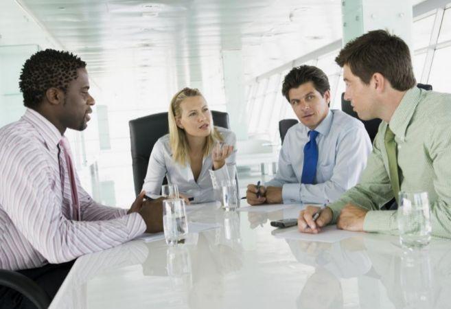 Una reunión de ejecutivos.