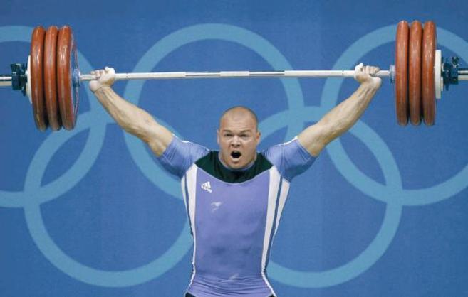 Milen Dobrev, durante los Juegos Olímpicos de Atenas.