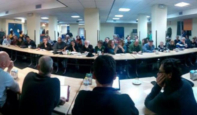 Foto del plenario de la plataforma del pasado viernes.