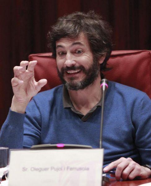 Oleguer Pujol ante la Comisión Antifraude del Parlament, el pasado...