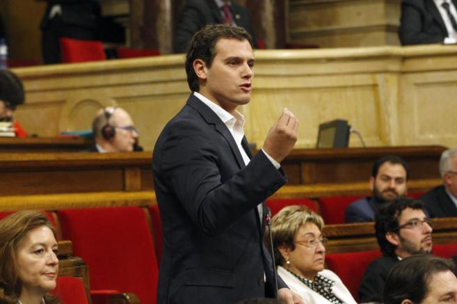 El líder de Ciutadans durante una intervención en el Parlament de...