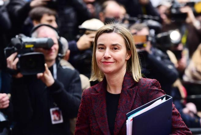 La alta representante para la Política Exterior de la Unión Europea,...