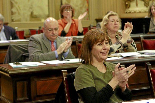 La candidata del PSIB a la Presidencia del Govern, Francina Armengol,...