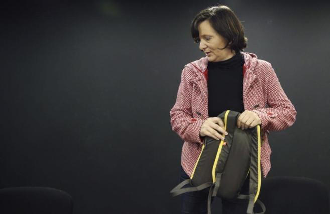 Carolina Bescansa, en la rueda de prensa celebrada hoy.