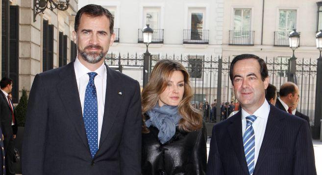 Los Reyes junto a José Bono, en una imagen reciente.