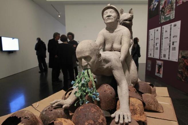 La controvertida obra que motivó el cierre de la exposición.