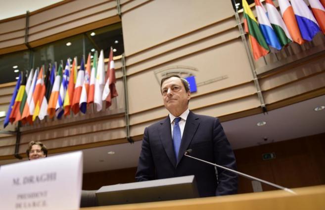 El presidente del Banco Central Europeo, Mario Draghi, ayer en...