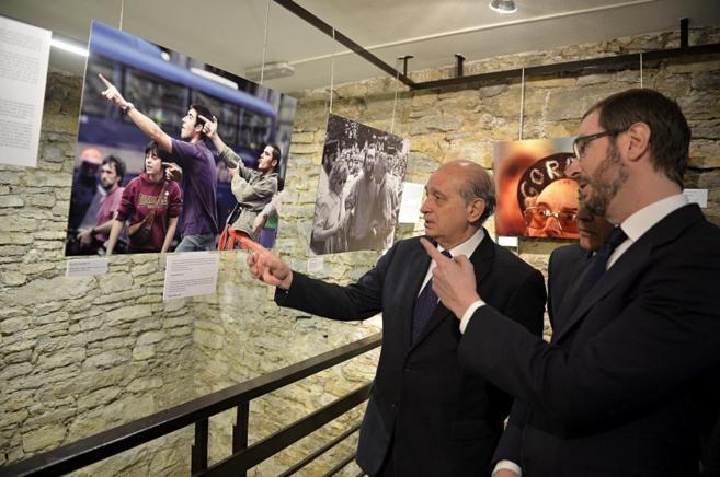 El ministro del Interior, Jorge Fernández Díaz, en la exposición...