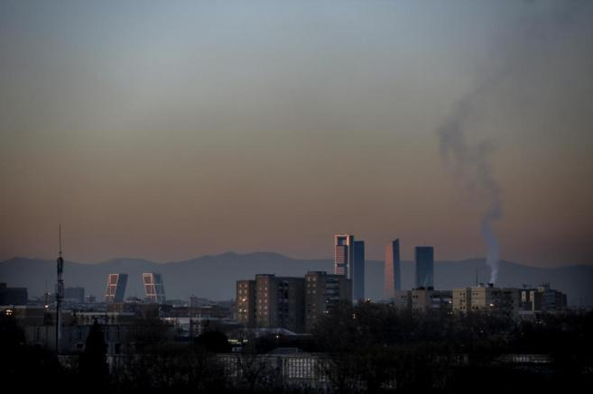 Vista general de Madrid en la que se aprecia la contaminación.