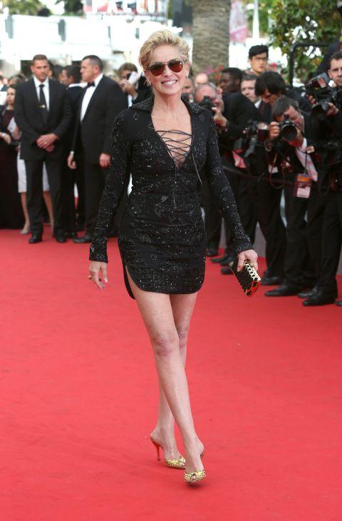 Las piernas de Sharon Stone siguen siendo todo un mito a sus 57 años....