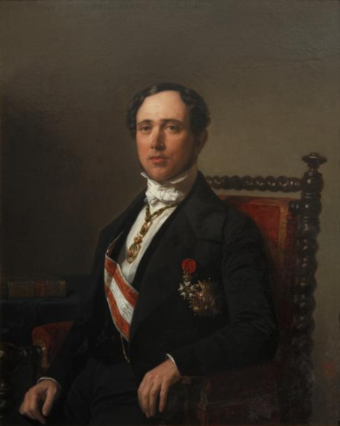 Retrato del político Donoso Cortés, por Federico Madrazo.