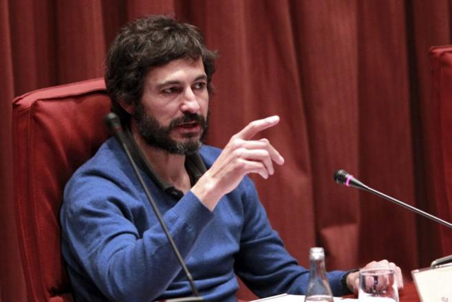 Oleguer Pujol en la Comisión anti fraude del Parlamento de Cataluña.