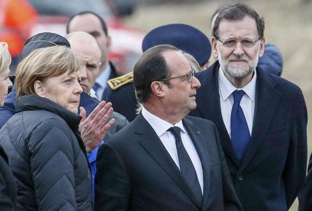 Merkel, Hollande y Rajoy visten de luto en honor a las víctimas de...