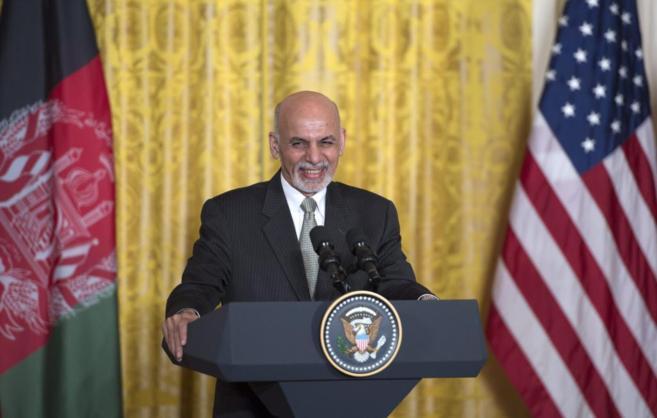 Conferencia de prensa del presidente Obama con su homólogo afgano,...