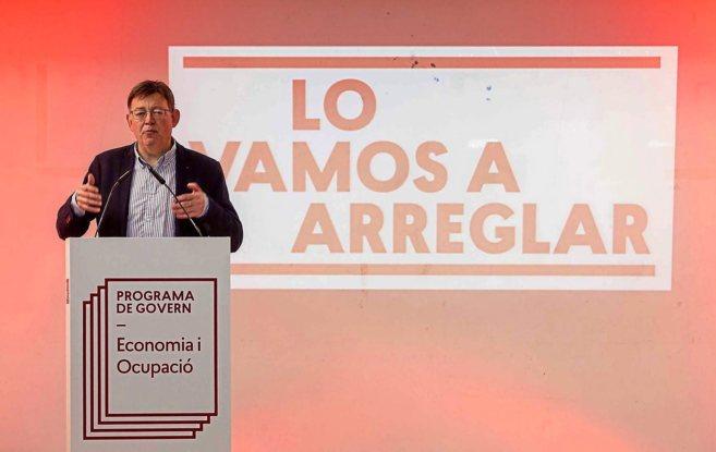 Ximo Puig, en un acto de partido en Alicante.