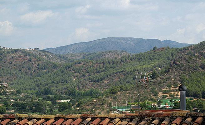 Vistas desde la casa rural que se sortea en Segorbe.