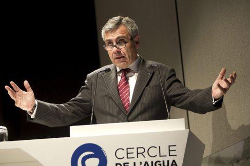 El director de Antifrau, Daniel de Alfonso, durante una conferencia en...