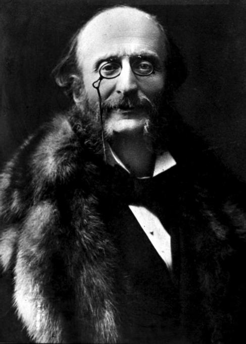 Imagen del compositor Jacques Offenbach (1819-1880)