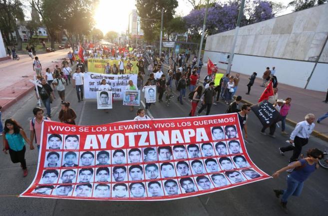 Protesta celebrada el jueves en Guadalajara por la desaparición de...