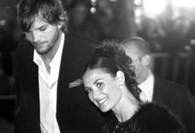 Ashton Kutcher y Demi Moore, cuando eran pareja.