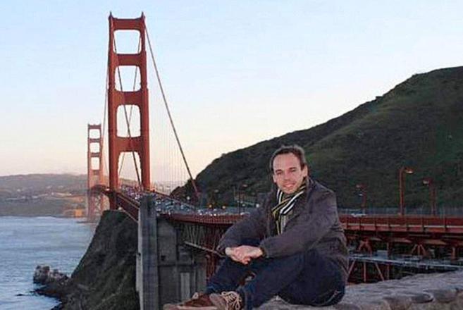 Andreas Lubitz durante una excursión que realizó a San Francisco en...