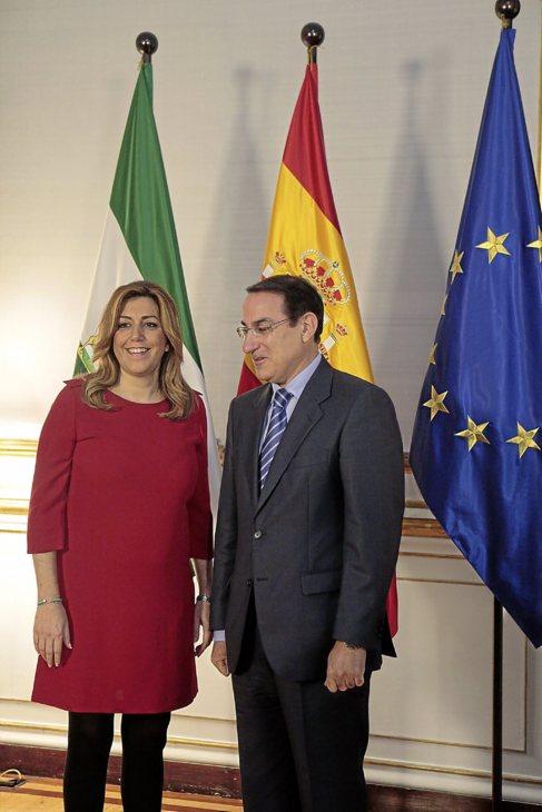 La presidenta de la Junta, Susana Díaz, en San Telmo junto al...