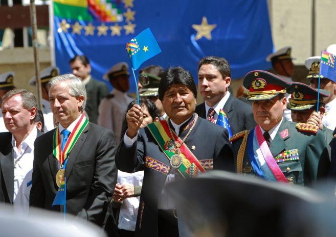 El presidente boliviano, Evo Morales, participa en los actos del Día...