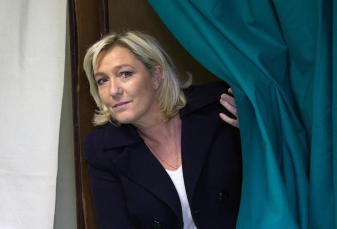 Marine Le Pen, líder del partido de derechas Frente Nacional.
