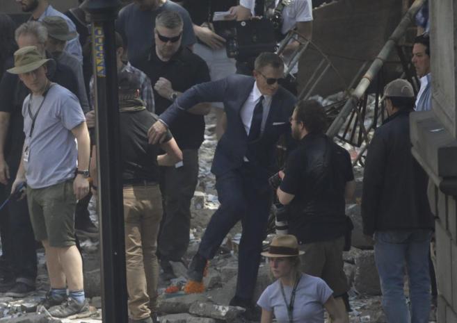 Imágenes del rodaje de la película en la Ciudad de México.