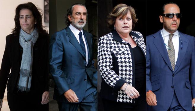 De izquierda a derecha: Angélica Such, Francisco Correa, Milagrosa...