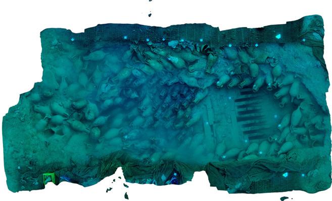 Ortofoto del pecio Bou Ferrer publicada por National Geografic
