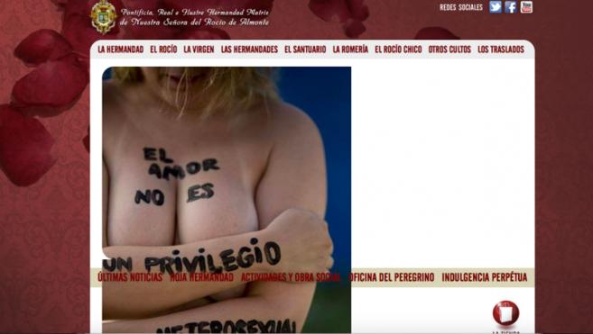 Imagen que los 'hackers' ha colado en la página de la...