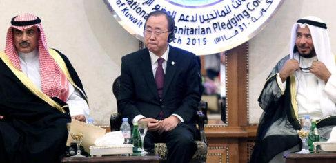 Sheikh Sabah al-Khaled al-Sabah, Ban Ki-Moon y Abdullah Matouq