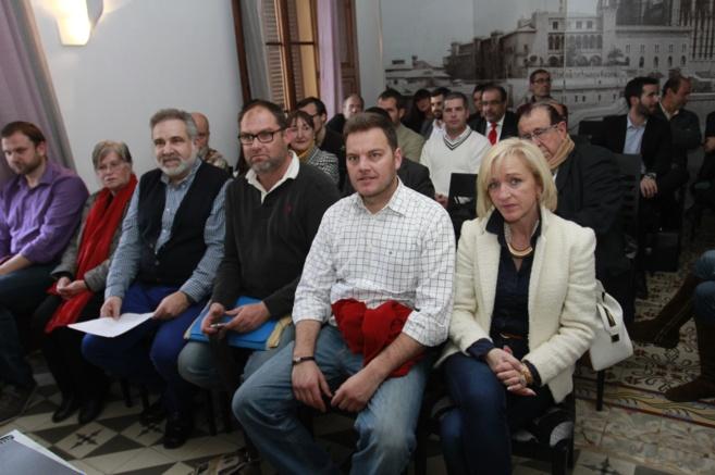 Asamblea de Ciudadanos celebrada ayer en un bar de Palma.