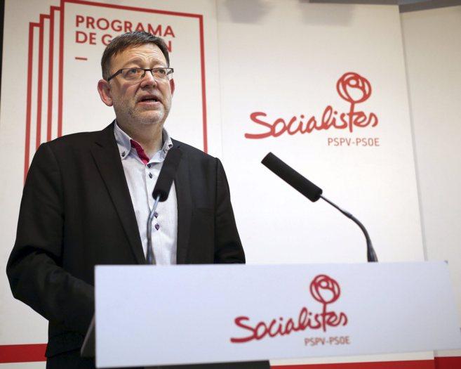 El candidato del PSPV  la Generalitat, Ximo Puig.