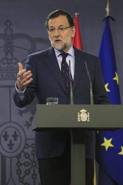 Mariano Rajoy, en la rueda de prensa celebrada en La Moncloa.