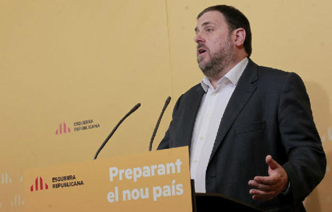 El presidente de ERC, durante el Consell Nacional celebrado a finales...