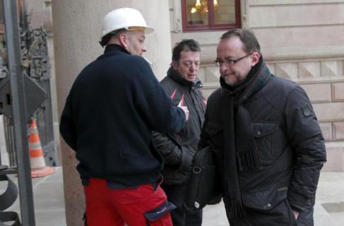 Daniel Fernández, en una comparecencia en el Palacio de Justicia