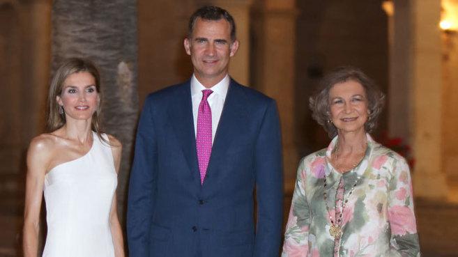 Doña Letizia, Don Felipe y la Reina Sofía en Mallorca, el año...
