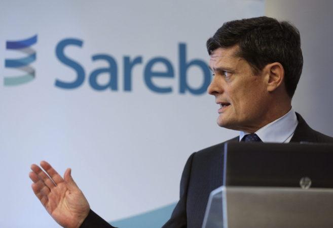 El presidente de Sareb Jaime Echegoye, durante la presentación de las...