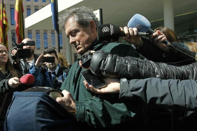 Jordi Pujol Ferrusola, abandonando la semana pasada la Ciudad de la...