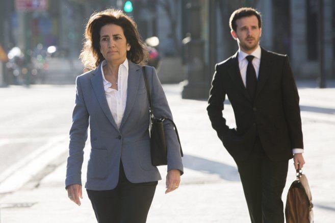 La ex consellera Angélica Such a su entrada al TSJ.