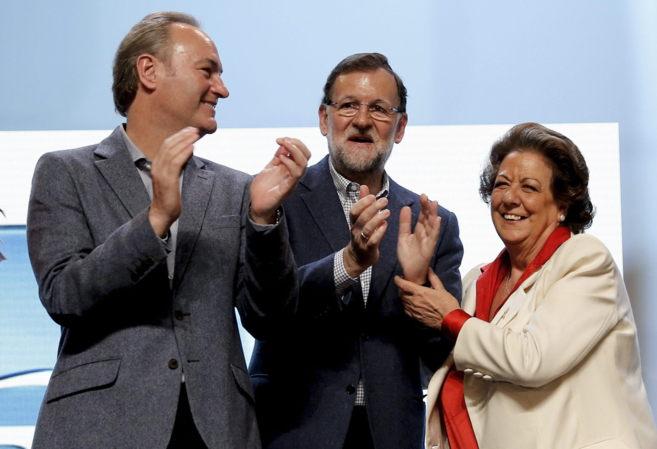 Alberto Fabra junto a Rajoy y Rita Barberá en la presentación del...