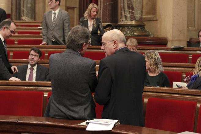 El president de la Generalitat, Artur Mas, y el conseller de Salut,...