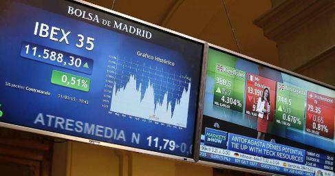 Monitores informativos en el parqué madrileño