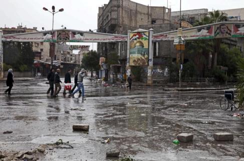 El campo de refugiados palestino de Yarmuk (Siria).
