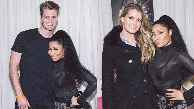 Nicki Minaj, con Louis y Kitty Spencer, ambos sobrinos de la...