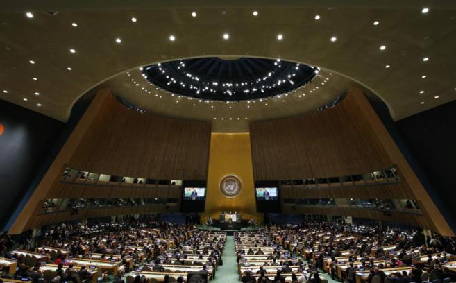 Barack Obama, durante su intervención en septiembre en la sede la ONU...