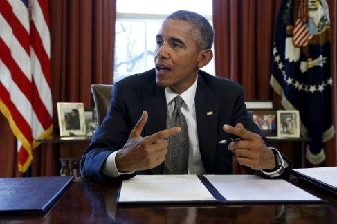 El presidente de Estados Unidos, Barack Obama, en la Casa Blanca el 31...