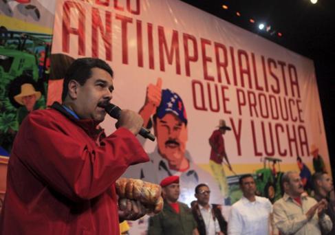 El presidente venezolano Nicolás Maduro, en un mitin reciente.